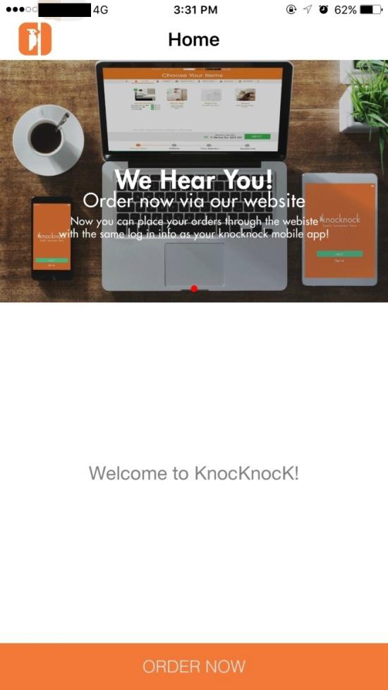 KnockKnock Laundry App