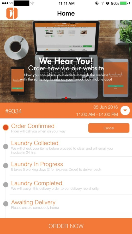 KnocKnock Laundry App